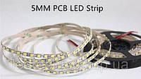 Светодиодная лента smd 2835 120led/м 12v ip20 Slim белый премиум. 5мм ширина