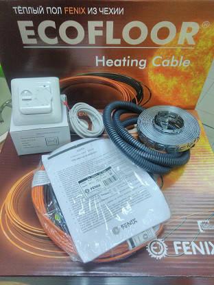 1,7 - 1,5 м2 Теплый пол электрический 1,5m2 260Вт 14,5м Fenix Ecofloor ADSV 18Вт\м для укладки под плитку