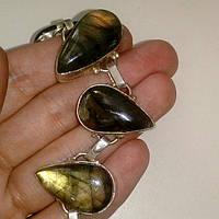 Лабрадор браслет натуральный лабрадорит в серебре, фото 1