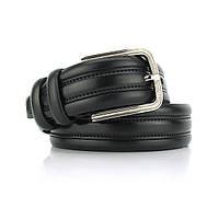 Ремень мужской кожаный для брюк черный BOND NON 1052 Акция