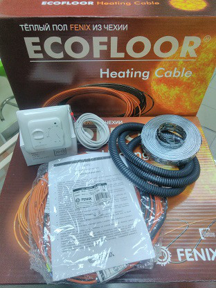 Нагрівальний кабель 24м 420Вт Fenix Ecofloor (Чехія) ADSV18 для теплої підлоги