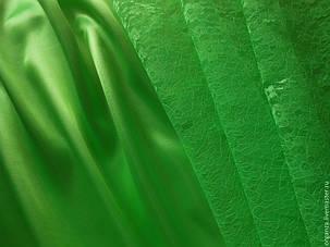 Ткань атлас салатовый, светло-зелёный, фото 2