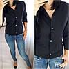 Женская классическая рубашка на пуговицах с длинным рукавом  /3 цвета арт 6394-515, фото 3