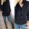 Женская классическая рубашка на пуговицах с длинным рукавом  /3 цвета арт 6394-515, фото 4