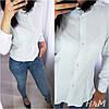 Женская классическая рубашка на пуговицах с длинным рукавом  /3 цвета арт 6394-515, фото 5
