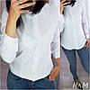 Женская классическая рубашка на пуговицах с длинным рукавом  /3 цвета арт 6394-515, фото 6