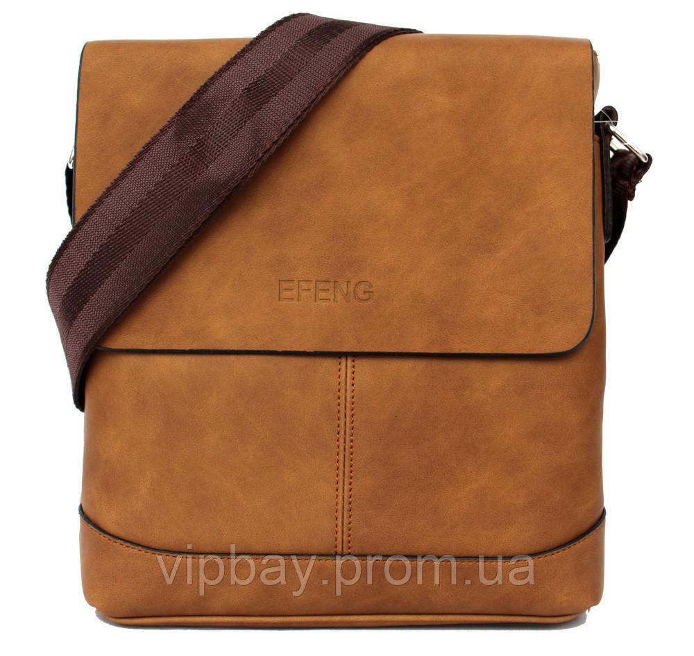 Коричневая стильная сумка для мужчин (54265н)