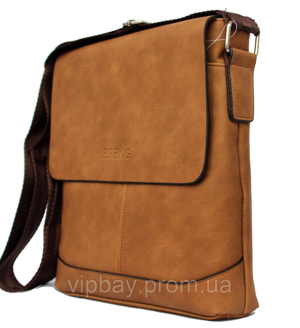 Коричнева стильна сумка для чоловіків (54265н)