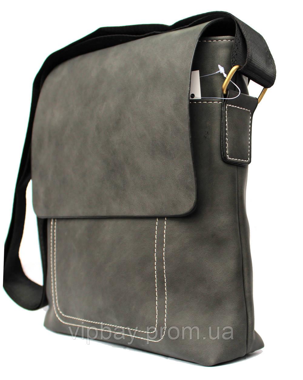 Сучасна сіра сумка для чоловіків через плече (54266н)