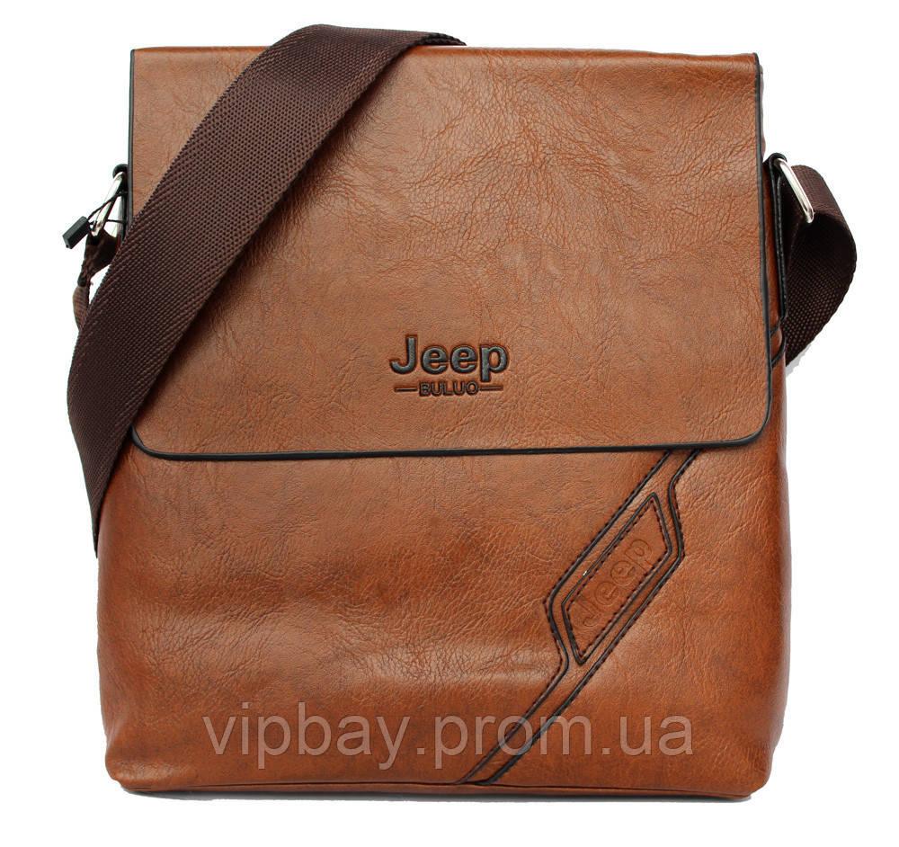 Мужская сумка светло - коричневая через плечо (54166ск)