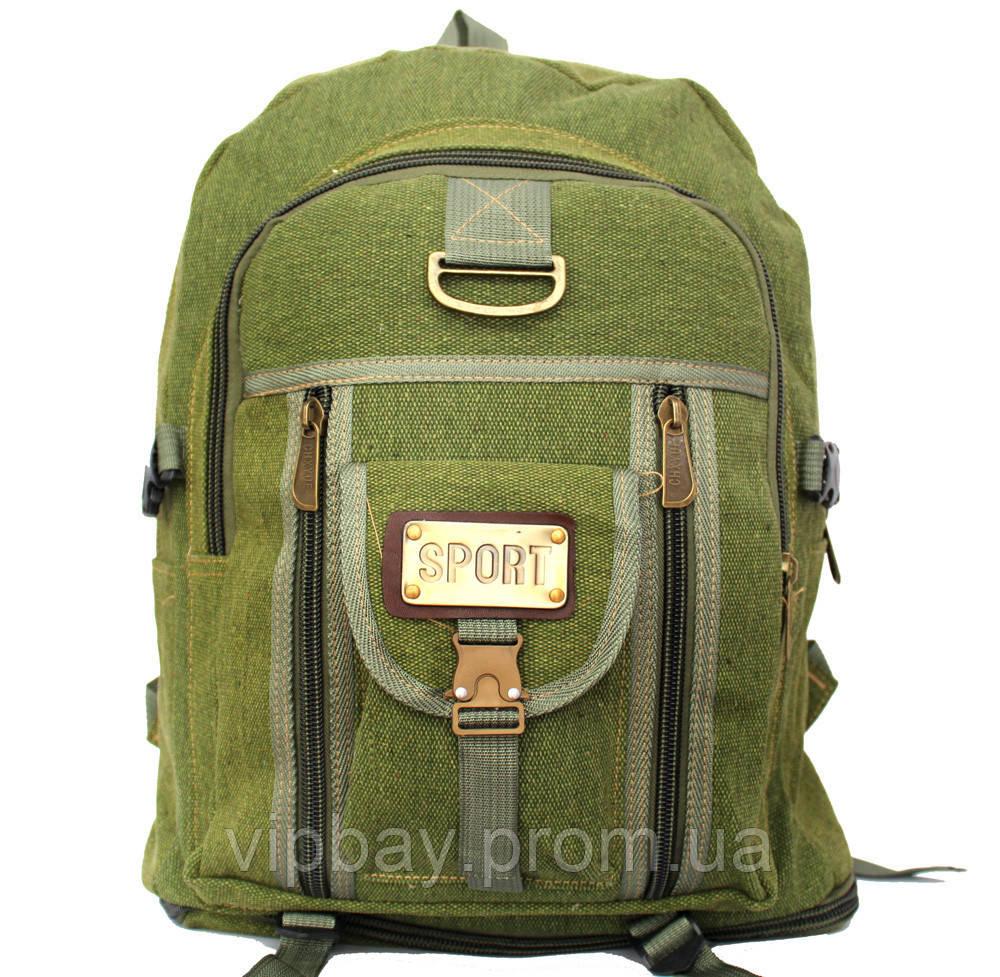 Вместительный тканевый рюкзак цвета хаки 50320