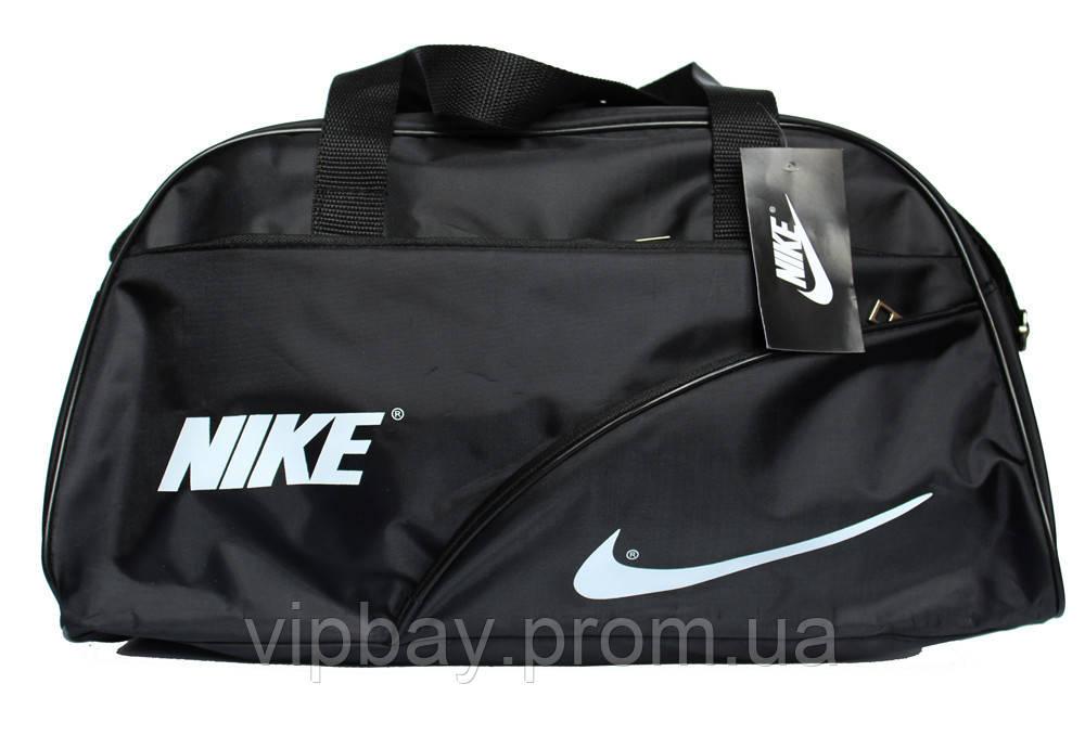 Спортивная мужская сумка черного цвета в стиле Nike (052-ч)