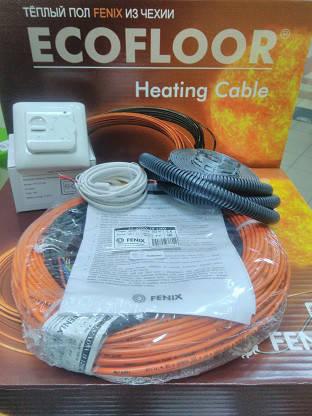 8 - 7 м2 Нагревательный кабель 69м 1200Вт Fenix Ecofloor ADSV18 (Чехия) для теплого пола кв под плитку