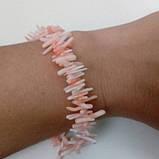 Розовый коралл браслет натуральный коралл, фото 4
