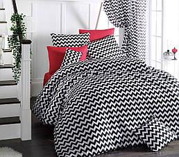 Комплект постельного белья ТМ LightHouse бязь голд ZEBRA красный 200х220/2х50х70