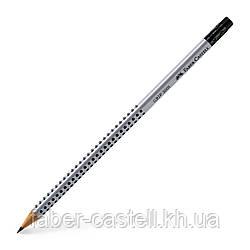 Карандаш чернографитный Faber-Castell Grip 2001 НВ с ластиком, 117200