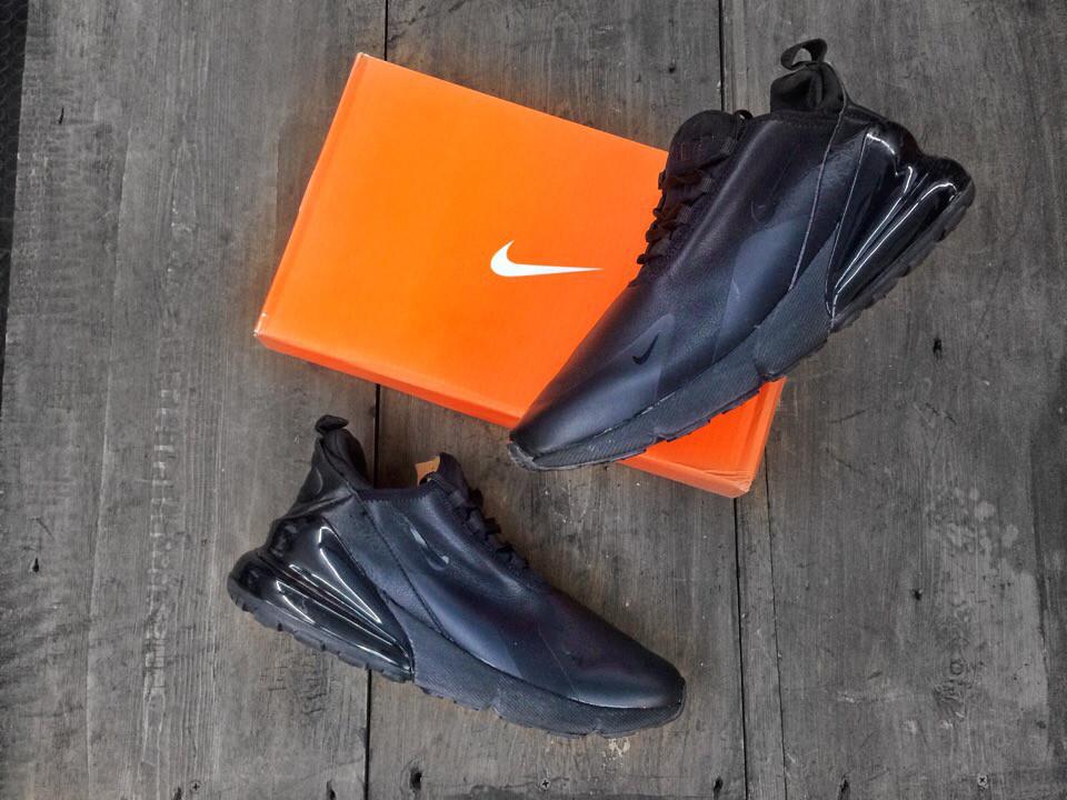 Кроссовки мужские Nike Air Max 270 Черные\Кожа