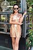 Нарядное платье из пайетки с подкладкой, открытая спина / 2 цвета арт 6405-524, фото 2