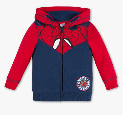 Детская кофта на молнии Spider Man для мальчика C&A Германия Размер 104