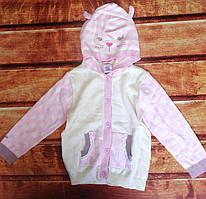 Кофта для девочек розовая 8066