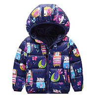 Куртка детская демисезонная фиолетовая 9105