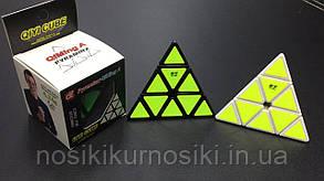 Головоломка Піраміда Pyraminx QiMing A чорний корпус Qiyi cube