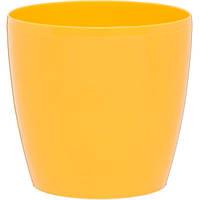 Горшок цветочный Lamela Магнолия 120 12х10.4 см желтый N10919405, фото 1