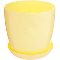 Горшок цветочный Омела 0.8 л желтый глянцевый N10919179