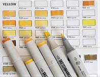 Маркер SKETCHMARKER Тонкий-Скошенный наконечник YELLOW (новая цветовая раскладка)