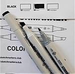 Маркер SKETCHMARKER Тонкий-Скошенный наконечник BLACK и Blender (новая цветовая раскладка)