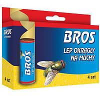 Липкая лента Bros от мух круглая 4 шт N10503556