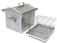 Коптильня Средняя 1,5 мм с крышкой домиком (код-СРХ10)