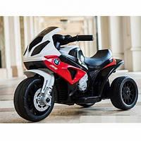Детский Мотоцикл BMW на аккумуляторе красный (синий, черный), свет/звук, JT5188L-3, BAMBI.