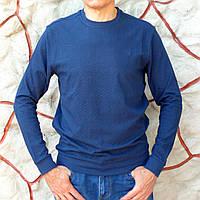 Лонгслив мужской синий с узором в елочку Caporicco