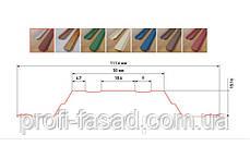 RAL 6020 Корея 10лет Гарантия Штакетник двухсторонний матовый 0,5мм 113мм, фото 2