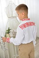 Вишиванка для хлопчика Артемій молодіжний (червона вишивка