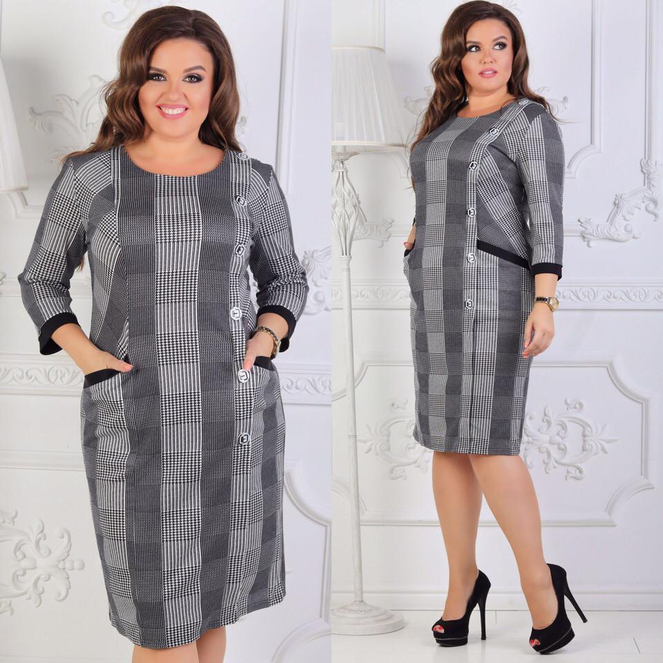 Платье большие размеры от 54 до 60 код  504/8969