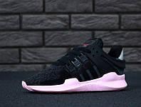 """Кроссовки женские Adidas EQT Equipment Support ADV """"Черные с розовым"""" р. 36-40, фото 1"""