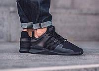 """Кроссовки мужские Adidas EQT Black """"Черные"""" р. 41-45"""