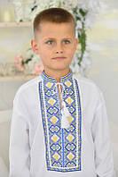 Вишиванка дитяча для хлопчика Герб, фото 1