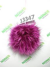 Меховой помпон Чернобурка, Фуксия, 13 см, 13347, фото 3