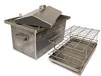 Коптильня Большая 2,0 мм с крышкой домиком (код-БГ16)
