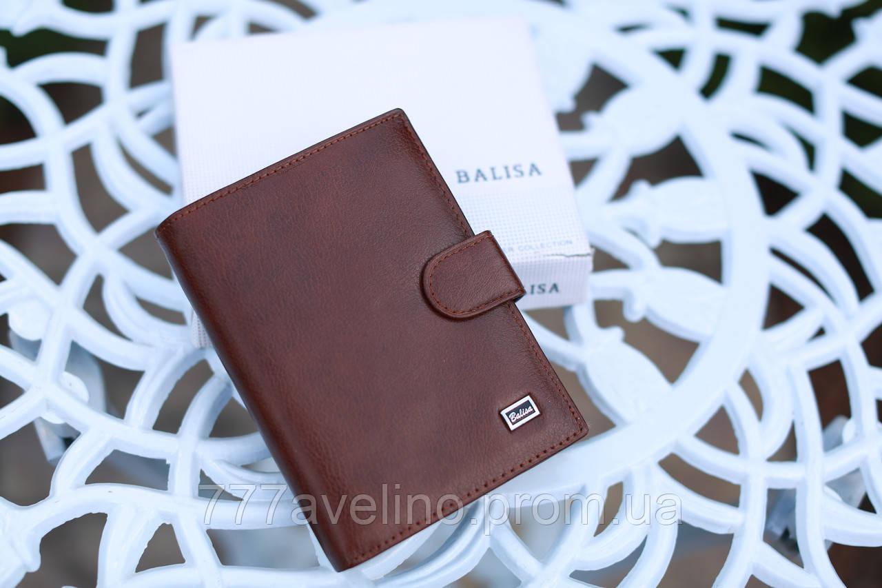 Мужской кошелек из натуральной кожи качественный коричневый