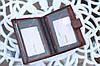 Мужской кошелек из натуральной кожи качественный коричневый, фото 4