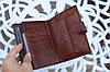 Мужской кошелек из натуральной кожи качественный коричневый, фото 5