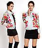 Короткая куртка в цветочный принт