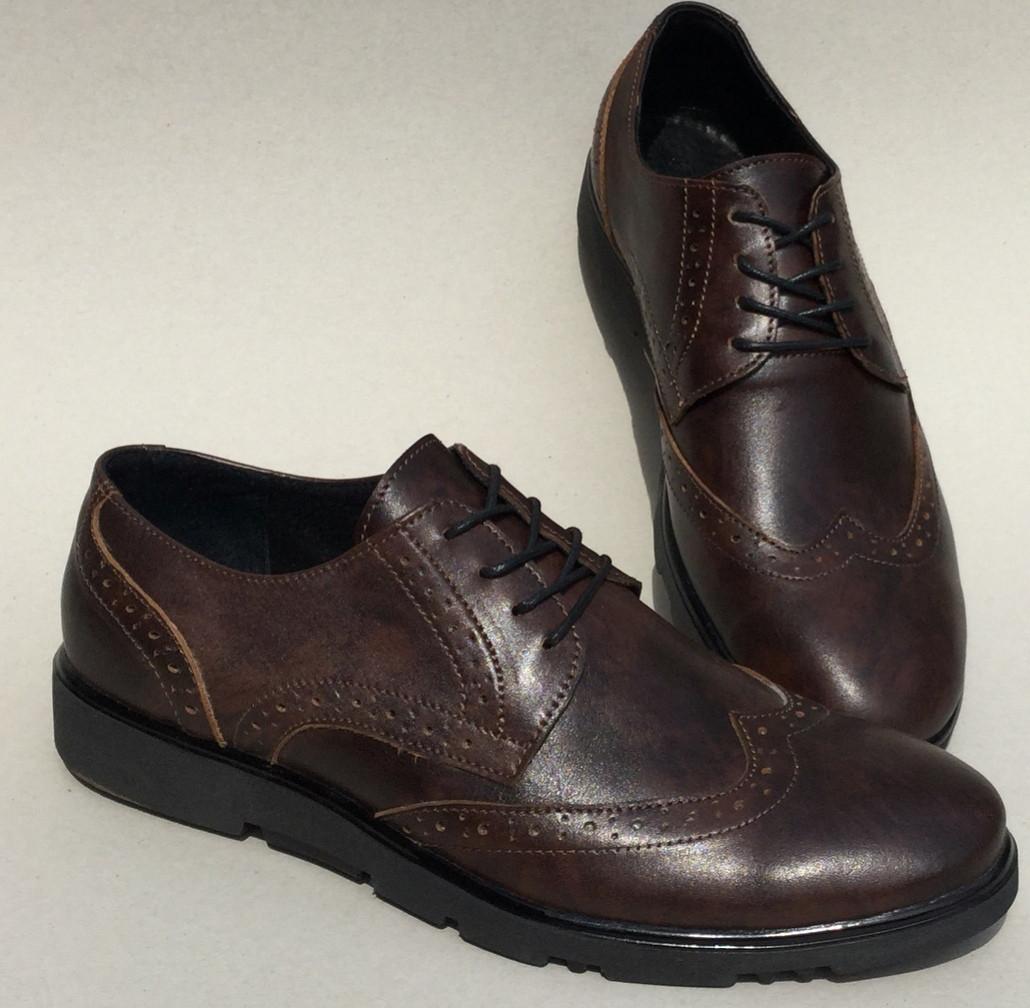 Timberland Oxford мужские коричневые кожаные туфли броги оксфорд реплика  Тимберленд - Trendy-brendy.com 9451ec5fd75bd