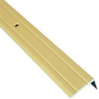 Профиль алюминиевый лестничный 24.5х10 мм 0.9 м золотой N60611579