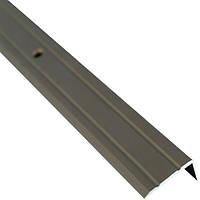 Профиль алюминиевый лестничный 24.5х10 мм 0.9 м бронзовый N60611580