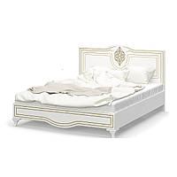 """Ліжко 160 """"Мілан"""" від Мебель Сервіс (біла, МДФ патина)"""